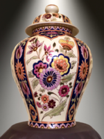 Zsolnay Exclusiv fedeles váza mesteri festéssel