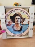 Kolumbusz Kristóf porcelán dísztányér