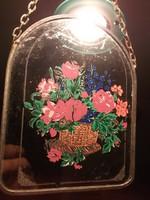 Ónkeretes festett üvegkép falra-különleges dekoráció