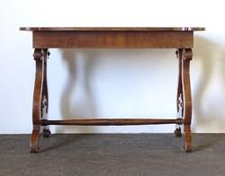 0Z204 Gyönyörű antik intarziás Biedermeier asztal