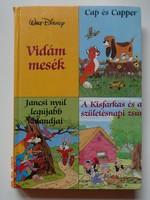 Disney - Vidám mesék - Cap és Capper/Jancsi nyúl - Kisfarkas - régi mesekönyv (1990)