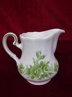 Winterling Bavaria német porcelán tejkiöntő, zöld minta, egyedi forma.