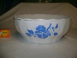 Régi kék rózsás Kispesti gránit tál
