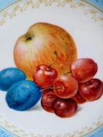 1908 Kézzel festett gyümölcs mintás Rosenthal Thomas Germany tál