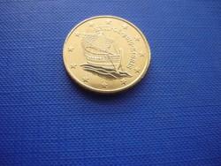 CIPRUS 50 EURO CENT 2016! HAJÓ! ! UNC! RITKA!