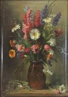 0Z255 Asztalos Gyula : Asztali virágcsendélet
