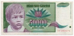 Jugoszlávia 50000 jugoszláv Dínár, 1992