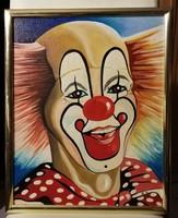 Jelzett, bohóc portréja ( 40 x 50 )