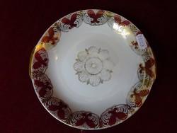Winterling Bavaria német porcelán süteményes tálka. Bordó/arany díszítéssel.
