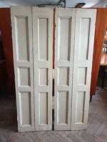 Vintage fenyő spaletta régi fa belső árnyékoló 167 cm