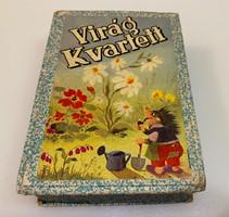 Virág kvartett régi kártyajáték játszatlan új lapokkal!!!