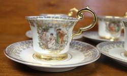 Antik aranyozott, német kávéskészlet