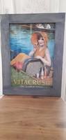 Vintage nosztalgia képek fa keretben 7 db egyben