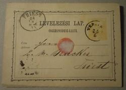 Levelezési lap 1871