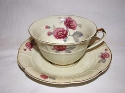 """Régi Rosenthal """"Imperiál"""" rózsás teáscsésze + alj"""