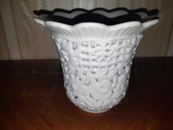 Herendi fehér duplafalú váza