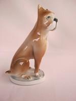 Zsolnay porcelán boxer kutya