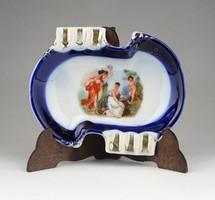 0Z591 Régi allegorikus díszes porcelán hamutál