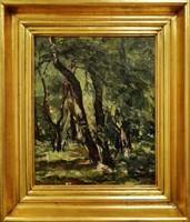 Paál Albert : Erdőrészlet ,olajfestmény