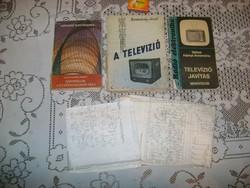 Régi televíziós könyv - három darab - 1957, 1971, 1974