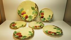 Meseszép Körmöcbányai antik süteményes készlet