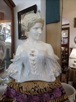 Szecessziós porcelán női büszt