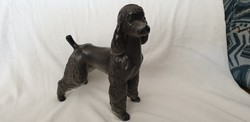 Hollóházi kutya figura ( uszkár)