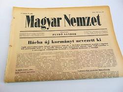 Hácha új kormányt nevek ki - Német -olasz- japán katonai egyezmény  Magyar Nemzet  1942. jan. 20. ..