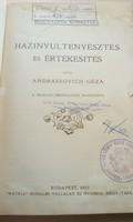 Könyvritkaság! 1907-es kiadású házinyúl tenyésztés