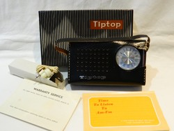 Tiptop 10 tranzisztoros rádió eredeti dobozában, tartozékaival!