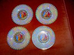 4 db Drasche lüszteres antik jelenetes   süteményes  tányér 1200 Ft/ db