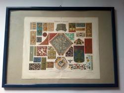 Reneszánsz ornamentika, litográfia, 1900, üvegezett keretben