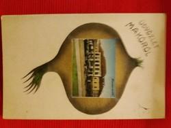 Antik fotó képeslap Makó a  képek szerint