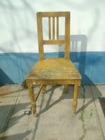 Régi támlás paraszti fenyő szék