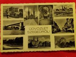 Antik fotó képeslap Szeged a  képek szerint 2