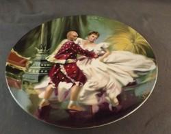 Knowles kézzel festett sorszámozott falitányér 22 cm