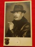 Antik fotó képeslap Portré a szegedi Székely műteremből a képek szerint 2