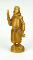 0Z657 Ferences szerzetes fafaragás 25.5 cm