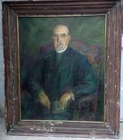 Bolmányi Ferenc : Hevesi Simon főrabbi portréja 1941 ből
