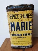 100 éves francia Marie fűszeres fém Doboz