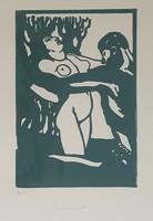 Tichy Gyula - 21 x 14 cm linómetszet