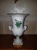 Herendi zöld Apponyi mintás füles váza