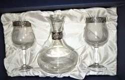 Sovrani Vintage ezűst kristály boroskészlet