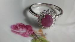 Rubin 925 ezüst gyűrű 59