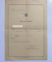 Kinevezési okmány az államrendőrség kötelékébe 1951