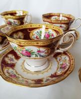 Royal Albert Lady Hamilton angol luxus porcelán teás készlet,hiányos