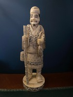 30cm Hatalmas Elefántcsont szobor cca. 19.századi 905gramm