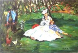 """Hepp Natália: Eduard Manet után """"The Monet Family in Their Garden"""""""