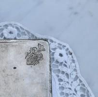 Nagyobb ezüst cigaretta tárca, nemesi címeres