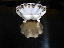Victoria  porcelán antik Ibolya mintával  asztali fűszertartó tálka